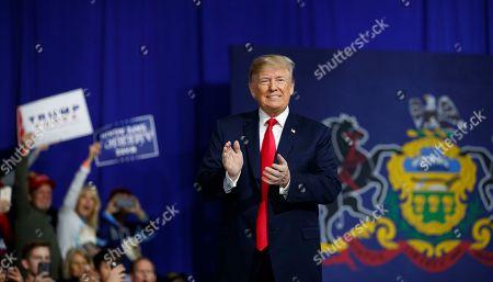 Donald Trump campaign rally Moon Township Stock Photos