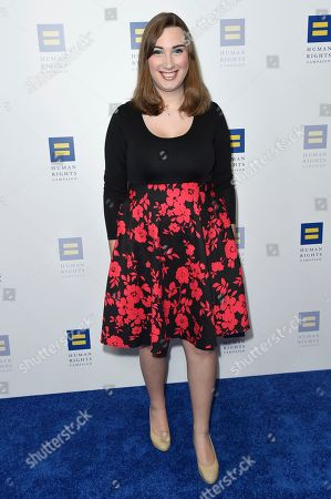 Sarah McBride attends the 2018 Human Rights Campaign Los Angeles Dinner at the JW Marriott L.A. Live, in Los Angeles