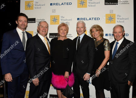 Hugh Jackman, Dr. John J. Russell, Deborra-lee Furness, Anderson Cooper, Christine Schwarzman, Stephen A. Schwarzman. Hugh Jackman, Dr. John J. Russell, Head of The Windward School, Deborra-lee Furness, Anderson Cooper, and Christine and Stephen A. Schwarzman, left to right, attend The Windward School Benefit, in New York. The School honored Anderson Cooper along with Drs. Sally and Bennett and Christine and Stephen A. Schwarzman for their contributions and advocacy towards educating students with dyslexia and language-based learning disabilities