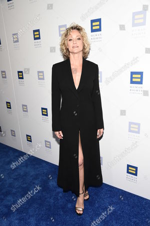 Actress Teri Polo seen at the 2018 Human Rights Campaign Los Angeles Dinner at JW Marriott L.A. Live, in Los Angeles