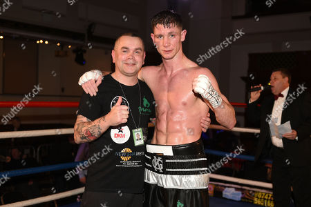 Kirk Garvey (black/white shorts) defeats Sam Smith during a Boxing Show at the Camden Centre on 10th March 2018