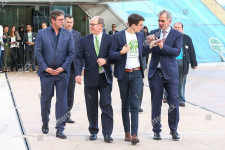 Hans Sigl, Prince Albert II of Monaco, Felix Finkbeiner, PlantAhead - Event, Grimaldi Forum