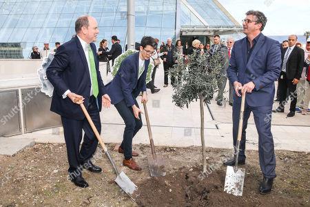 Prince Albert II of Monaco, Felix Finkbeiner, Hans Sigl, PlantAhead - Event, Grimaldi Forum
