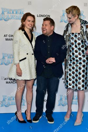 Daisy Ridley, James Corden and Elizabeth Debicki