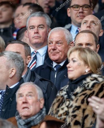 Walter Smith, former Rangers & Scotland Manager in the directors box, with Rangers Director Paul Murray behind.