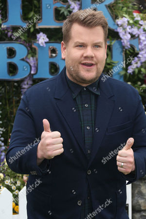 Actor James Corden poses for photographers upon arrival at the UK Gala premiere of the film 'Peter Rabbit ' in London