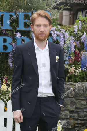 Actor Domhnall Gleeson poses for photographers upon arrival at the UK Gala premiere of the film 'Peter Rabbit ' in London