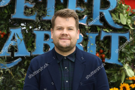 Actor James Corden poses for photographers on arrival at the premiere of the film 'Peter Rabbit', in London