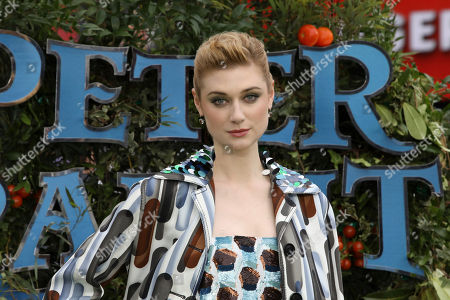 Actress Elizabeth Debicki poses for photographers on arrival at the premiere of the film 'Peter Rabbit', in London