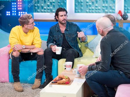 Oliver Proudlock and Alik Alfus with Simon Rimmer and Tim Lovejoy