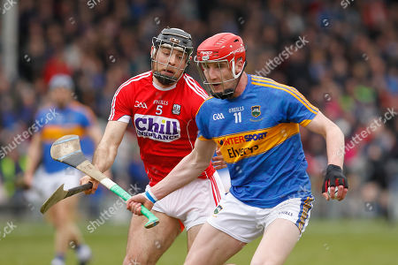 Tipperary vs Cork. Billy McCarthy of Tipperary in action against Christopher Joyce of Cork