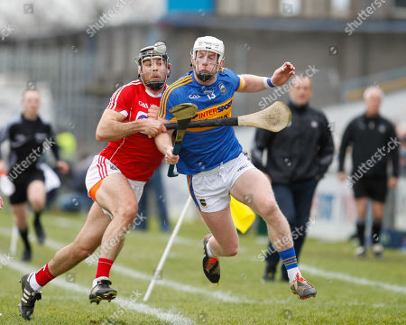 Tipperary vs Cork. Billy McCarthy of Tipperary in action against Tim O'Mahony of Cork