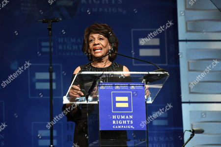 U.S. Congresswoman Maxine Waters seen at the 2018 Human Rights Campaign Los Angeles Dinner at JW Marriott L.A. Live, in Los Angeles