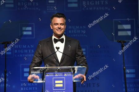 Actor Josh Duhamel seen at the 2018 Human Rights Campaign Los Angeles Dinner at JW Marriott L.A. Live, in Los Angeles