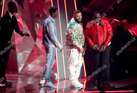 Christian Combs, DJ Khaled and Sean Combs