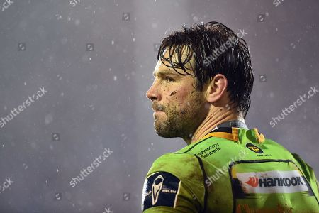 Ben Foden of Northampton Saints looks on during a break in play