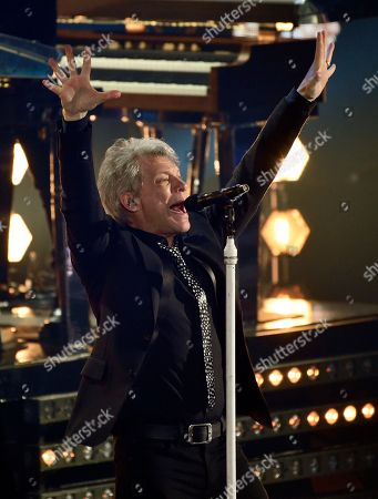 Icon Award recipient Jon Bon Jovi performs during the 2018 iHeartRadio Music Awards at The Forum, in Inglewood, Calif