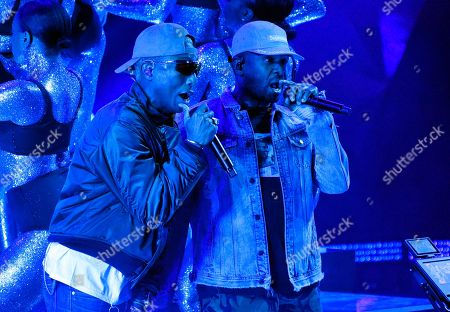Pharrell Williams, Shay Haley. Pharrell Williams, left, and Shay Haley of N.E.R.D. perform during the 2018 iHeartRadio Music Awards at The Forum, in Inglewood, Calif
