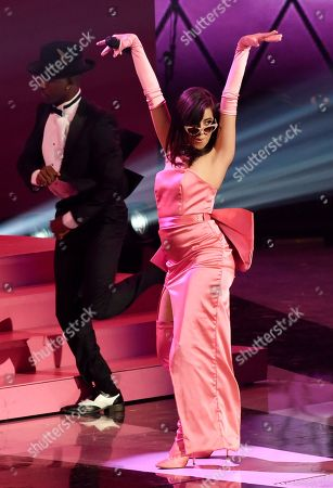 Singer Camila Cabello performs during the 2018 iHeartRadio Music Awards at The Forum, in Inglewood, Calif