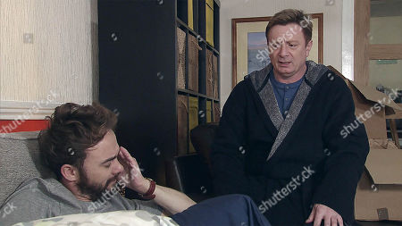 Ep 9411 Thursday 22nd March 2018  Waking up on Martin Platt's, as played by Sean Wilson, sofa from a fitful night's sleep David Platt, as played by Jack P Shepherd, is interested as Martin talks about his plans to move to New Zealand.