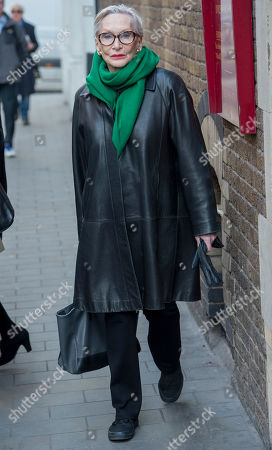 Actress Sian Phillips Attending A Memorial Service To Commemorate The Life And Work Of The Actor Frank Finlay At The Corpus Christie Catholic Actors Church In Covent Garden. 16.02.2017.