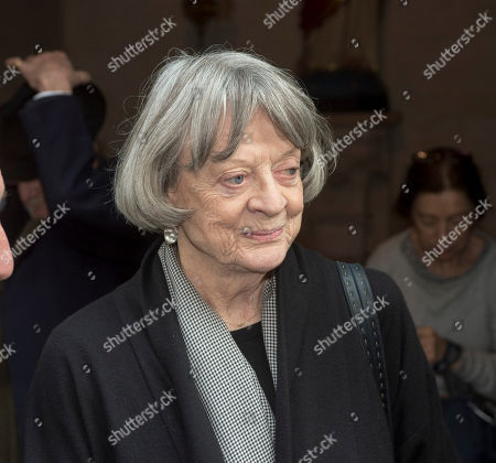 Dame Maggie Smith Attending A Memorial Service To Commemorate The Life And Work Of The Actor Frank Finlay At The Corpus Christie Catholic Actors Church In Covent Garden. 16.02.2017.
