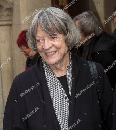 Editorial picture of Dame Maggie Smith Attending A Memorial Service To Commemorate The Life And Work Of The Actor Frank Finlay At The Corpus Christie Catholic Actors Church In Covent Garden. Picture David Parker 16.02.2017.
