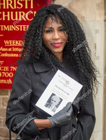 Stock Photo of Singer Sinitta Attending A Memorial Service To Commemorate The Life And Work Of The Actor Frank Finlay At The Corpus Christie Catholic Actors Church In Covent Garden. 16.02.2017.
