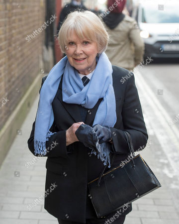 Stock Picture of Wendy Craig Attending A Memorial Service To Commemorate The Life And Work Of The Actor Frank Finlay At The Corpus Christie Catholic Actors Church In Covent Garden. 16.02.2017.