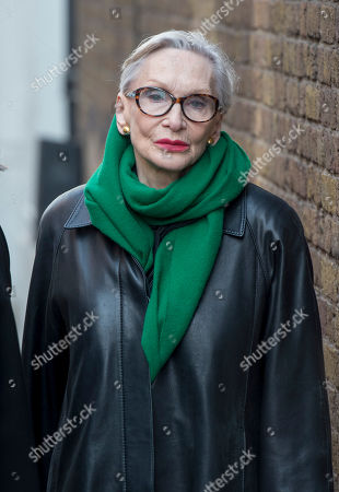 Editorial image of Actress Sian Phillips Attending A Memorial Service To Commemorate The Life And Work Of The Actor Frank Finlay At The Corpus Christie Catholic Actors Church In Covent Garden. Picture David Parker 16.02.2017.