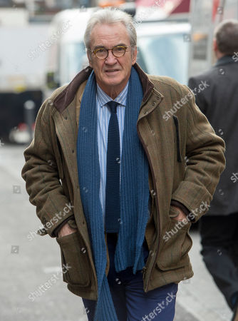 Stock Image of Actor Larry Lamb Attending A Memorial Service To Commemorate The Life And Work Of The Actor Frank Finlay At The Corpus Christie Catholic Actors Church In Covent Garden. 16.02.2017.