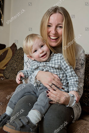 Stock Image of Kerry Tomlinson And Her Son Freddie. Kerry And Her Husband Glyn Spent £22 000 At An Ivf Clinic Where They Were Sold Bogus Add On Treatments. They Had No Success With Ivf But Went On To Have A Son Naturally Freddie. Kerry And Glyn Tomlinson Had Three Failed Rounds Of Ivf At The Zita West Clinic In Central London Costing £4 000 A Time.