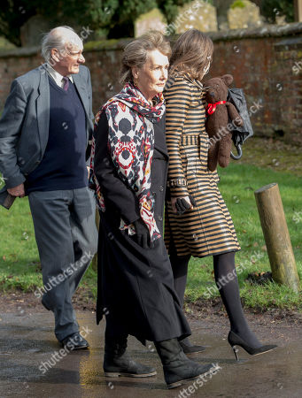 Sos Palmer-tomkinson Attending The Funeral Of Her Daughter Tara Palmer-tomkinson At Dummer Church Hampshire.