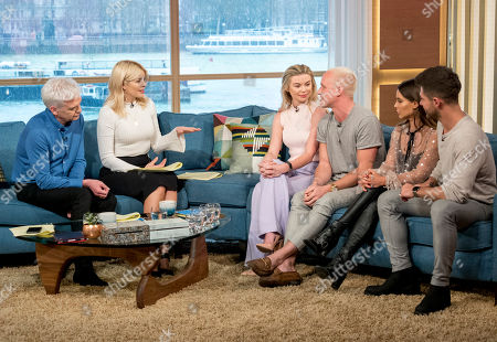 Phillip Schofield and Holly Willoughby with Georgia Toffolo, Jamie Laing, Louise Thompson and Alex Mytton