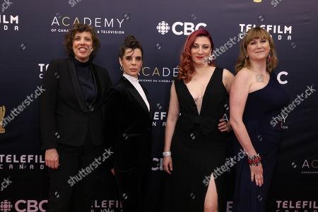 Baroness von Sketch Show stars Carolyn Taylor, Meredith Macneill, Aurora Browne, Jennifer Whalen