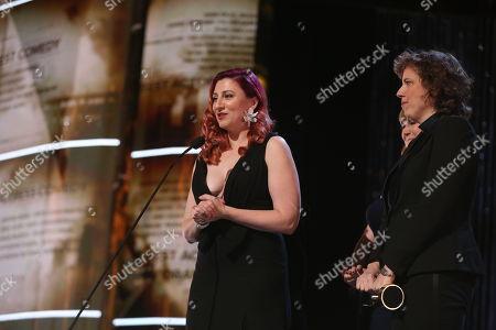 Aurora Browne and Baroness von Sketch Show cast.