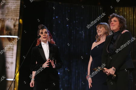 Meredith Macneill, Carolyn Taylor, Jennifer Whalen, stars of Baroness von Sketch Show, Best Performance, Sketch Comedy (Individual or Ensemble)