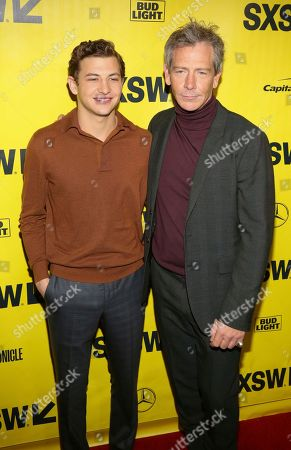 "Tye Sheridan, Ben Mendelsohn. Tye Sheridan, left, and Ben Mendelsohn arrive for the world premiere of ""Ready Player One"" during the South by Southwest Film Festival at the Paramount Theatre, in Austin, Texas"
