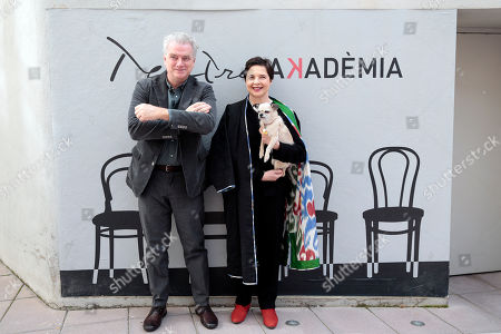 Stock Photo of Isabella Rossellini (R) and Guido Torlonia (L)