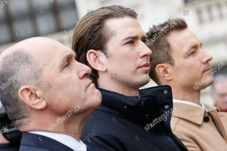 Gernot Bluemel, Wolfgang Sobotka and Sebastian Kurz