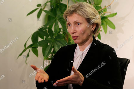 Marina Litvinenko during an interview with the AP in Berlin, Germany