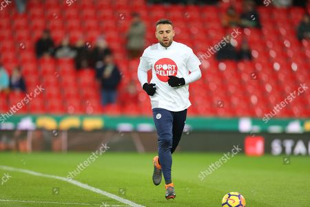 Nicholas Otemendi during the Premier League match between Stoke City and Manchester City at the Bet365 Stadium, Stoke-on-Trent. Picture by Graham Holt