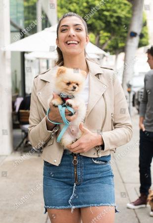 Rachel Levin with her puppy 'Neyo Bambi'