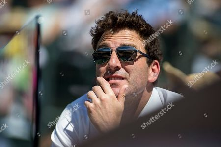 Justin Gimelstob, John Isner's coach, watches as Gael Monfils (FRA) defeated John Isner (USA) 6-7, 7-6, 7-5 at the BNP Paribas Open played at the Indian Wells Tennis Garden in Indian Wells, California. ©Mal Taam/TennisClix/CSM