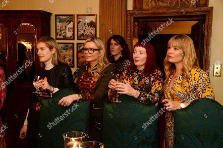 Polly Morgan, Fru Tholstrup and guests