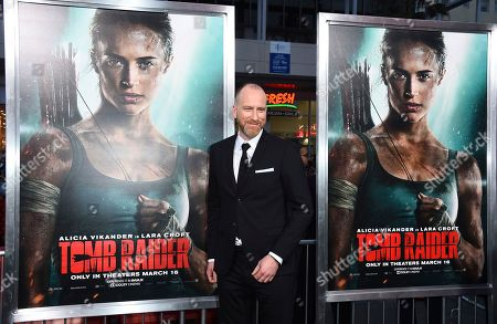 "Roar Uthaug arrives at the U.S. premiere of ""Tomb Raider"" at the TCL Chinese Theatre, in Los Angeles"