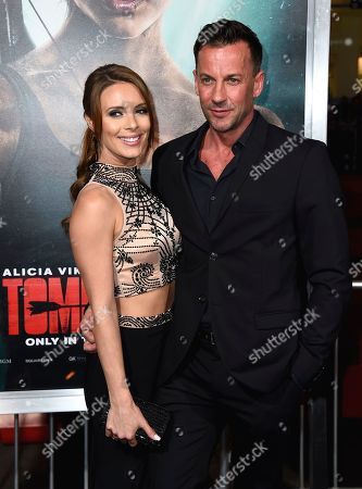 """Amy Louise Pemberton, Craig Parker. Amy Louise Pemberton, left, and Craig Parker arrive at the U.S. premiere of """"Tomb Raider"""" at the TCL Chinese Theatre, in Los Angeles"""