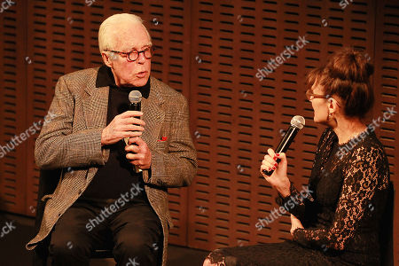 Stock Picture of John Guare and Rebecca Miller