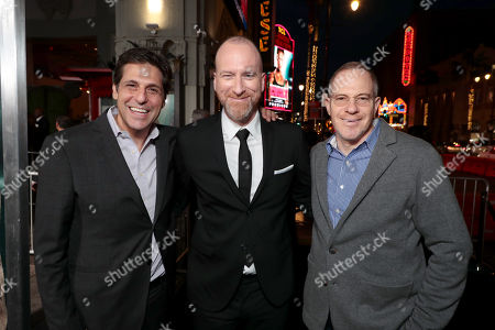 Jonathan Glickman, President, Motion Picture Group, Metro-Goldwyn-Mayer Studios (MGM), Roar Uthaug, Director, Toby Emmerich, Chairman, Warner Bros. Pictures Group,