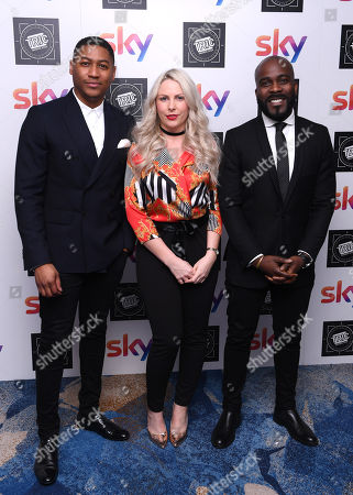 Stock Image of Rickie Haywood-Williams, Melvin O'Doom, Charlie Hedges (KISS Breakfast presenters)